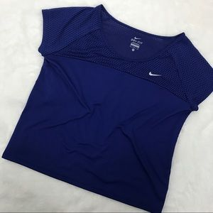 Purple Nike Dri-Fit Crop Top