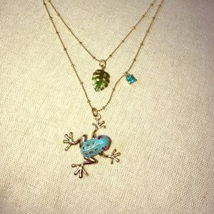Jewelry - ~ unique~ Betsey Johnson gold Frog necklace