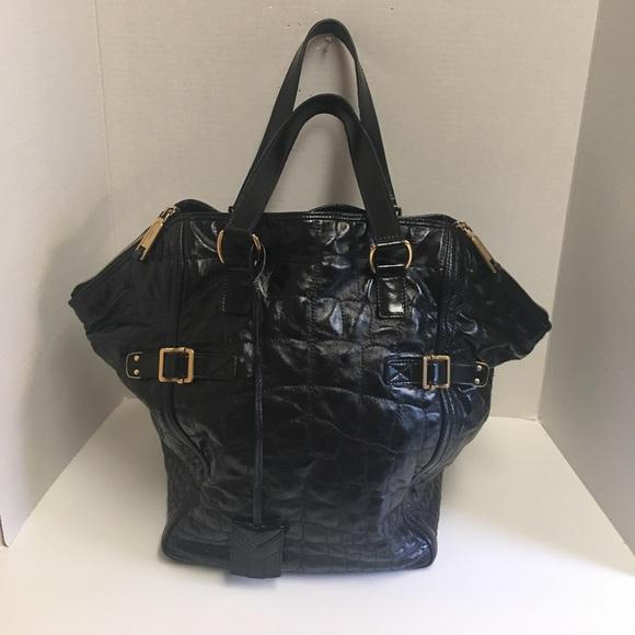 4ad732dcb3 Yves saint laurent black patent downtown Tote. M_59c026ba4127d0f67800c641