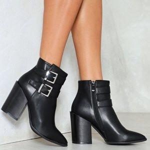 Black Nasty Gal booties