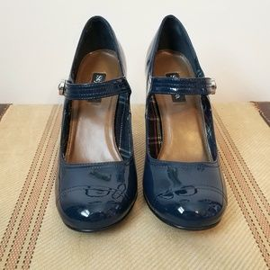 Style & Co.Shiny Navy Blue Mary Janes Pumps