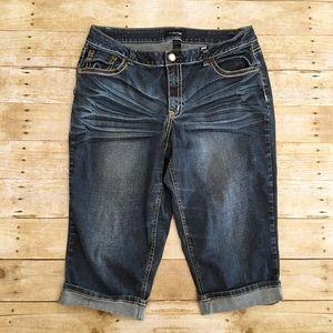 Lane Bryant button pocket bermuda shorts, size 18