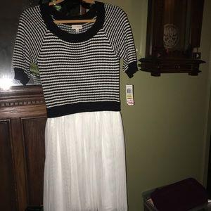 Maison Jules tulle-skirt sweater dress!! NWT