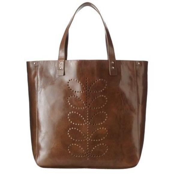 Orla Kiely Structured Stem Willow Bag Leather. M 59c028e2f0137d793b00c5b5 043416c6cc687