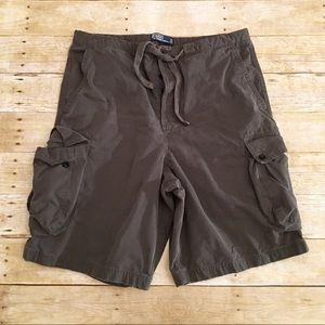 Brown Polo Ralph Lauren cargo shorts, size 36