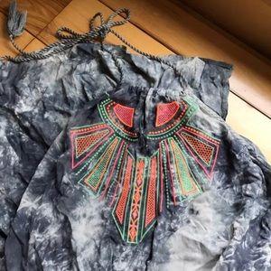 Flying tomato halter Tie Dye dress XL Juniors