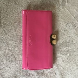 Pink patent leather ted baker wallet