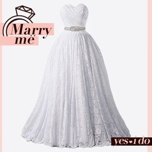 Dresses & Skirts - Wonderland Full Lace Princess Weddding Gown