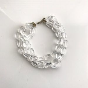 Clear Lucite Necklace