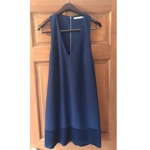 Alice & Olivia navy blue Daralee dress