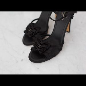 Chanel black sandals size 36.5