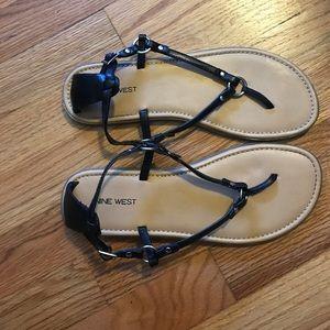 Black NINE WEST Sandals-BARELY WORN!!