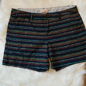 Navy and polka dot shorts