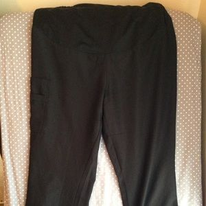 Pants - Black Maternity scrub pants