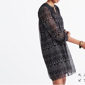 Madewell Alexa Chung silk smock caravan dress mini