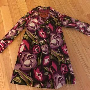 Missoni floral velvet trench coat 4t-5t