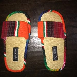 Colorful sandals by Saythesun