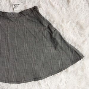 American Apparel Rare B&W Plaid Print Skirt szL