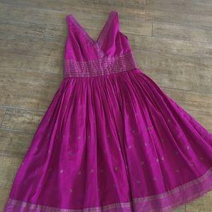 Magenta dress Isaac Mizrahi
