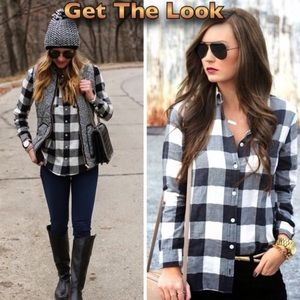 Old Navy Tops - Plaid Chest Pocket Top