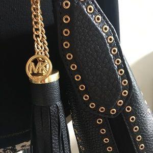MICHAEL by Michael Kors Black Brooklyn Grommet Bag