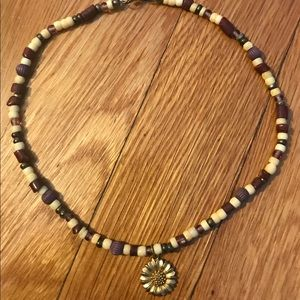 Sunflower Beaded Necklace