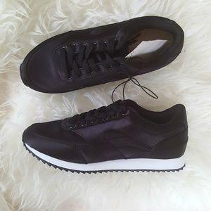 H&M Black Satin Sneakers