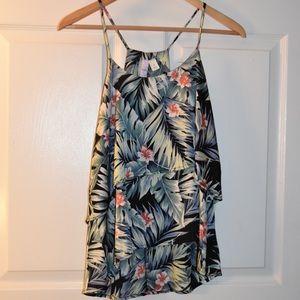 Tropical tank blouse