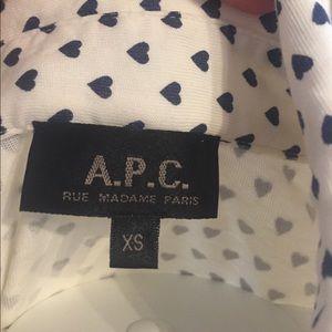 APC Tops - APC heart print cotton jersey top XS