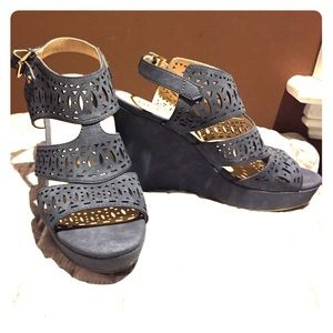 Guess Grey/Blue Wedge
