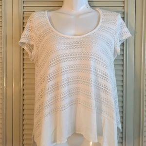 Alya white crocheted top - medium