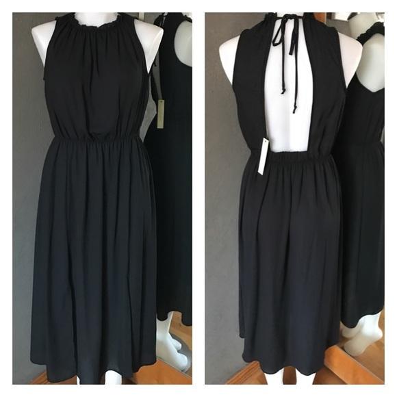 Malloy Dresses Nwt Black Sleeveless Openback Maxi Dress Poshmark