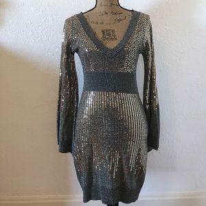 Arden B Sequins Sweater Dress