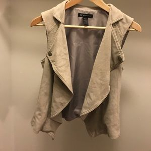 INC light gray vest