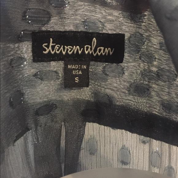 Steven Alan Tops - Seven Alan gray button-down long sleeve blouse S