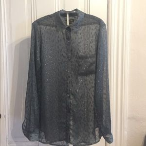 Steven Alan gray button-down long sleeve blouse S