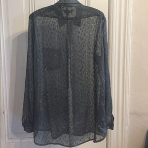 Steven Alan Tops - Steven Alan gray button-down long sleeve blouse S