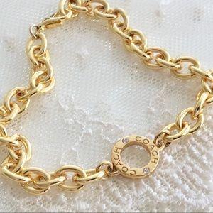 Coach Crystal Station Charm Bracelet