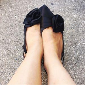 WHBM ~Abigail~ Satin Rose Slingback Heel