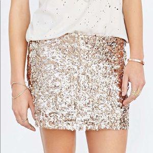 UO Love Sadie Sequin mini skirt