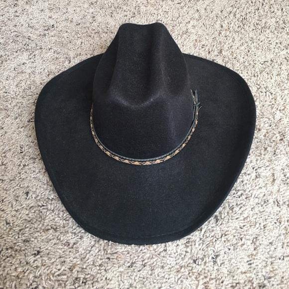 1afaec1b566 Lone Star Hats Accessories - Lone Star Hats - Black Felt Cowboy Hat - Size M