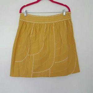 ANTHROPOLOGIE {FLOREAT} golden yellow skirt