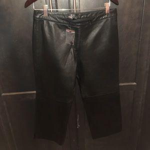 Womens bcbg 100% leather capris