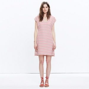 Madewell red and ivory stripped dress EUC