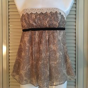 Wendy Hil strapless top - xs