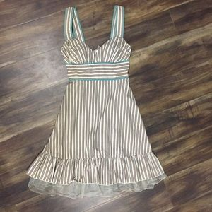 NWT new SPEECHLESS Brown striped dress size 3