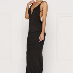 Black Penelope Low Back Dress by Alamour The Label