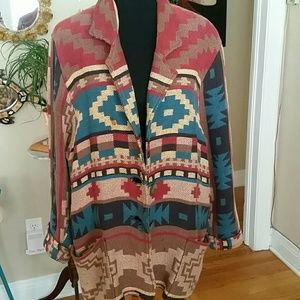 VTG Tribal Oversized Jacket! Size M!♡
