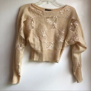 Motel cropped sweater size small