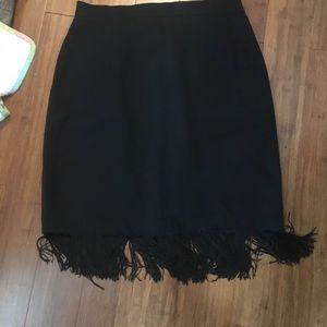 Dresses & Skirts - Vintage inspired pencil skirt with fringe pinup